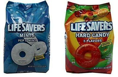 Life Savers Hard Candy, Individually Wrapped, Bundle Pack - Pep O Mint & 5 Flavo
