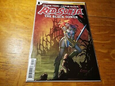 RED SONJA THE BLACK TOWER #1 DYNAMITE Amanda Conner cover 1ST PRINT VF