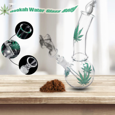 Glass Maple Hookah Bong Water Pipe - 19.5cm Medium Smoking Pipe Tobacco