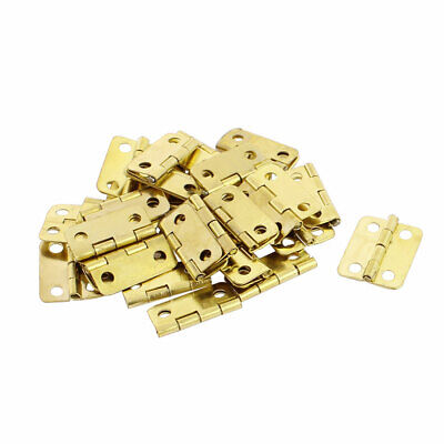 Door Jewelry Box Case Rectangle Folding Hinge Gold Tone 16mmx13mm 30pcs