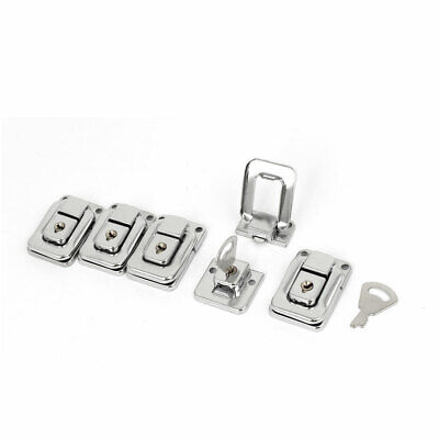 Suitcase Iron Nickel Plating Toggle Catch Latch Hasp Silver Tone 40x27x9mm 5pcs