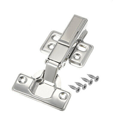 201 Stainless Steel Removable Face Cabinet Full Overlay Door Hinges w Cover