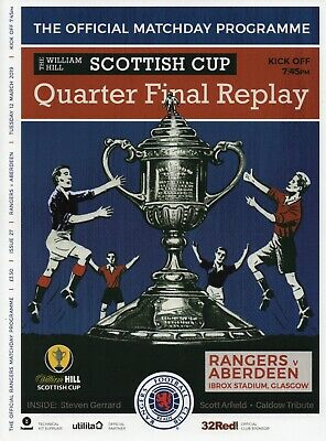 Rangers v Aberdeen - Scottish Cup Quarter Final Replay - 12 March 2019 - Mint.