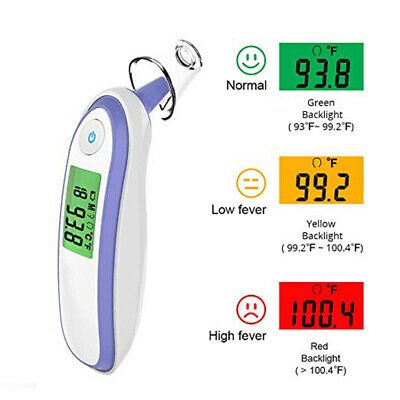 Baby/Adult Digital IR Infrared Forehead Ear Thermometer Temperature Device FDA