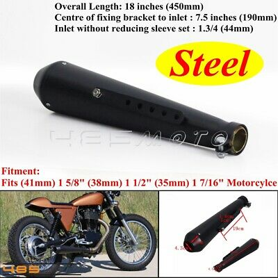Black Megaphone Mufflers Reverse Cone Exhaust Pipes Muffler Silencer For Harley
