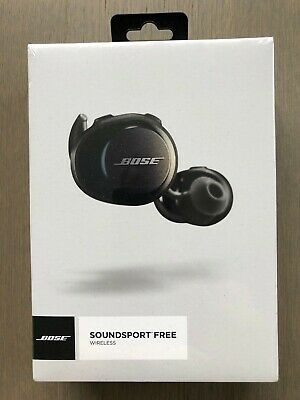 Bose SoundSport Free Bluetooth Wireless In-Ear Headphones Earbuds Black SEALED