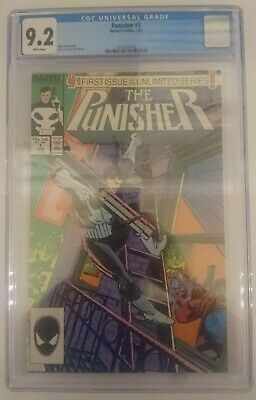 Punisher # 1 CGC 9.2 July 1987 Marvel 1st Ongoing Series New Case White Pages