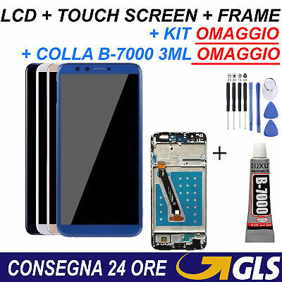 Display LCD + Touch Screen + Frame Telaio Schermo per Huawei P Smart FIG-LX1
