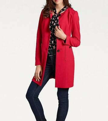 060a9173595e40 Ashley Brooke Designer Longblazer rot Gr 38 bis 52 Blazer Jacke Business  Mantel