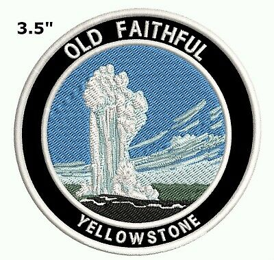 Yellowstone Old Faithful Embroidered Park Patch Iron-On Souvenir Travel Explore