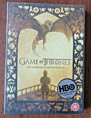 Game of Thrones Complete Season 5 DVD Box Set UK Region 2 Brand New Sealed