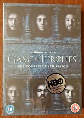 Game of Thrones Complete Season 6 DVD Box Set UK Region 2 Brand New Sealed