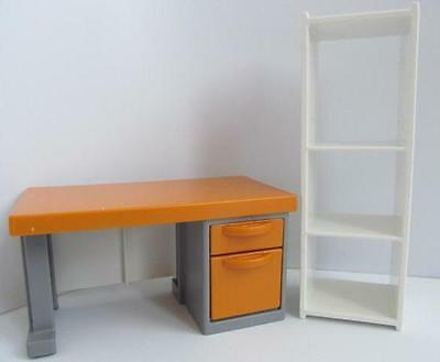 Playmobil Office desk & shelves NEW dollshouse/school/police station furniture