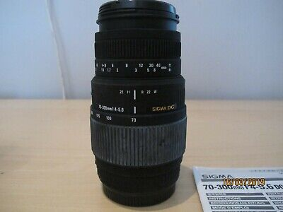 Sigma 70-30mm F4-5.6 DG macro Zoom Lens, Canon mount in excellent condition.