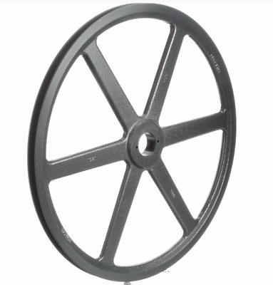 "Browning Fixed Pitch Sheave, 1-Groove Pulley, 18.75"", 4L, A, 5L, B Belts, Bk190H"