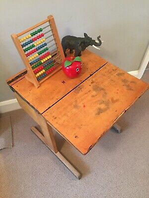 Vintage Wooden School Desk