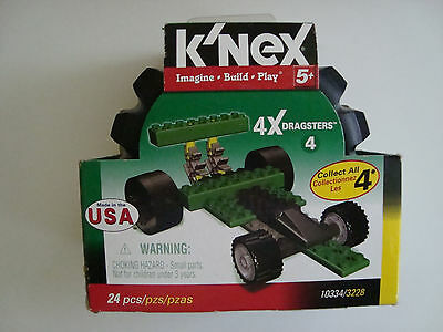 K/'Nex 10332//3229 4 X Dragsters #2 Yellow Car Imagine Build Play NEW Retired Set