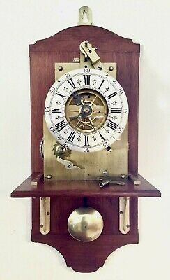 Large THWAITES & REED Ltd. Rare 1870's Antique FUSEE 8-Day Pendulum Wall Clock