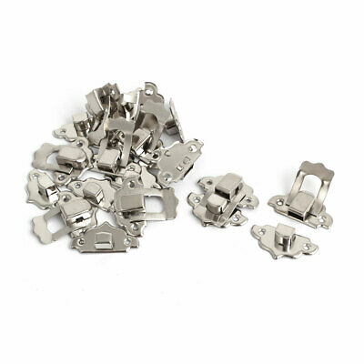 Toolbox Jewelry Gift Box Case Metal Clasp Hasp Latch Catch Silver Tone 10pcs