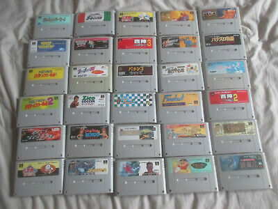 30 Super Famicom JAP SNES Games Bundle Job Lot Huge Collection