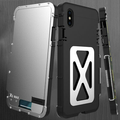 New Luxury Hybrid Metal Aluminum Shockproof Apple iPhone XS Max Armor Case Cover