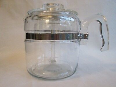 6 CUP COFFEE POT w/INSERT! Vintage PYREX glass: model 7756B: LOVELY