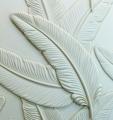 FEATHER 3D Decorative Wall Panel ABS Plastic Mould Mold Plaster Gypsum DIY Tile