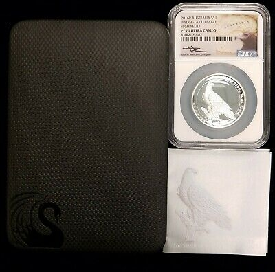 2016 1oz Australia Wedge-Tailed Eagle Silver Proof High Relief NGC PF70 Mercanti