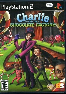 Charlie and the Chocolate Factory Sony PlayStation 2 Game Case Manual FREE SHIP