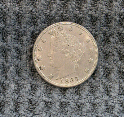 1883 Liberty V Nickel - No Cents - Very nice coin.