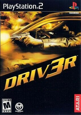 Driver 3 Driv3r Sony PlayStation 2 PS2 TESTED Game Manual Case FREE SHIPPING