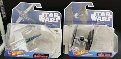 NEW Hot Wheels Star Wars Original Concept X Wing Tie Fighter Starships Lot Of 2