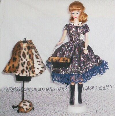 Dress Handmade For Vintage Silkstone Barbie Clothes Hat Purse Cape Jewelry