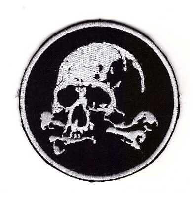 Tactical Army Morale Biker Motorcycle Patch Pirate Skull /&bone iron //sew on#54