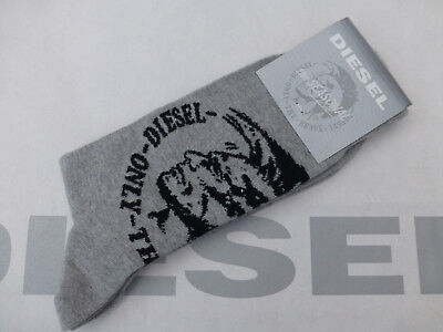 DIESEL Comfy Sock Italian made HOLDEN Grey Size L High Cotton Socks 1/pk BNIP