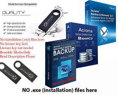 Acronis True Image 2019 Backup Restore Migrate to a another Drive SSD on 4GB USB