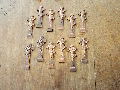 A Collection 12 Victorian Brass And Copper Antique Cherubs New Old Stock