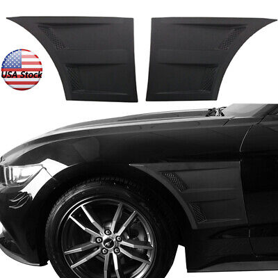 Fender Vent Scoops Stick on 3D Style For Ford Mustang Coupe Converitble 15-17