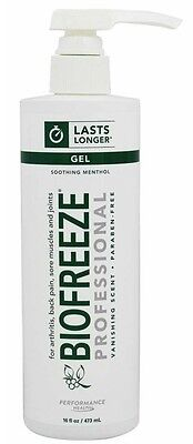 BRAND NEW BIOFREEZE  PAIN RELIEVING GEL, 16oz each.