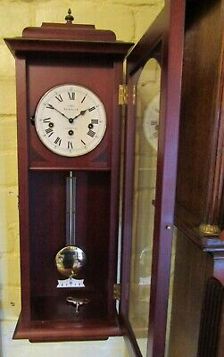 Stunning 'sewills Of Liverpool' Westminster Chiming Wall Clock In Mahogany Case.