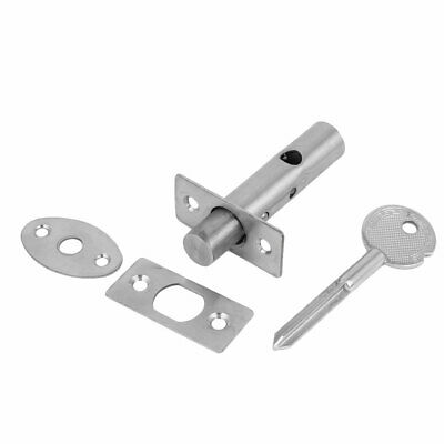 Office Door Stainless Steel Hidden Manager Tubewell Key Mortise Lock Silver Tone