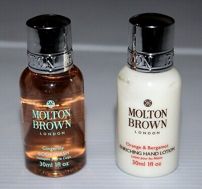 MOLTON BROWN - GINGERLILY 30ml BODY WASH + ORANGE & BERGAMONT 30ml HAND LOTION