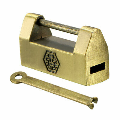30mm Body Width Padlock Antique Chinese Old Style Zinc Alloy Brass Plated