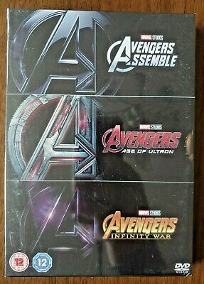 Avengers Assemble / Age of ultron / Infinity War 1-3 collection region 2 dvd new