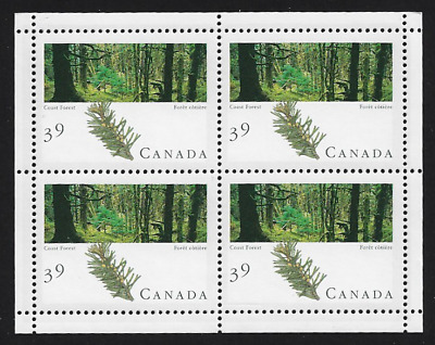 Canada Stamps - Miniature Pane of 4 - Majestic Forest: Coast Forest #1285a - MNH