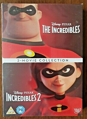 Incredibles 1-2 [DVD] 2 movie collection dvd boxset uk region 2 new/sealed