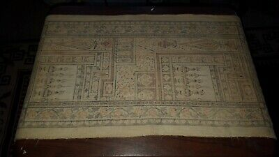 Antique Silk and Linen Show Towel Old Dyes