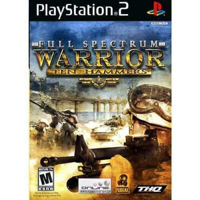Full Spectrum Warrior Ten Hammers Sony PlayStation 2 PS2 TESTED FREE SHIPPING
