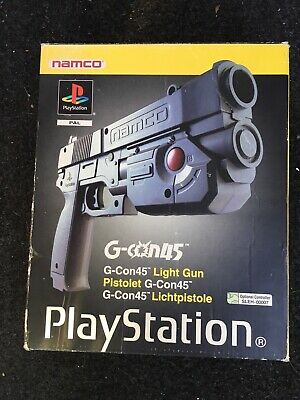 Official Sony NAMCO Sony Playstation 1 PS1 G-Con-45 Light Gun Box. (empty).