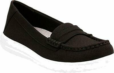 bbc95846e67 CLARKS TEADALE ELSA Leather Loafer Womens Shoes Black Size 8 New ...